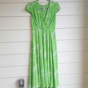 (Sz 6) Free People Green Maxi dress